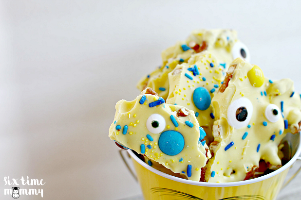 You Are One In A Minion – Celebrate YOU With A Homemade Minions Pretzel Bark Recipe