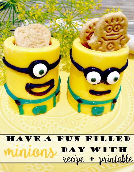 Have a Fun Filled Minions Day!  {Recipe + Free Scavenger Hunt Printable}