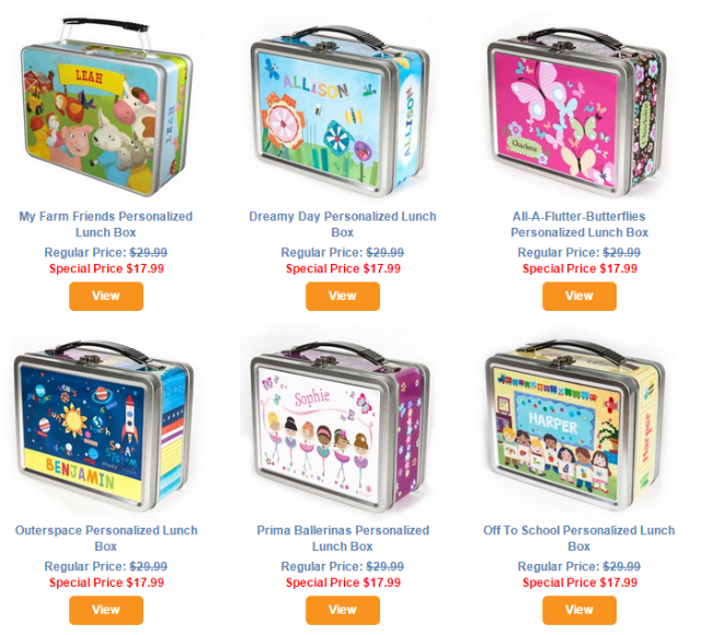 Just in time for Back-to-School – Personalized Lunch Boxes from I See Me!