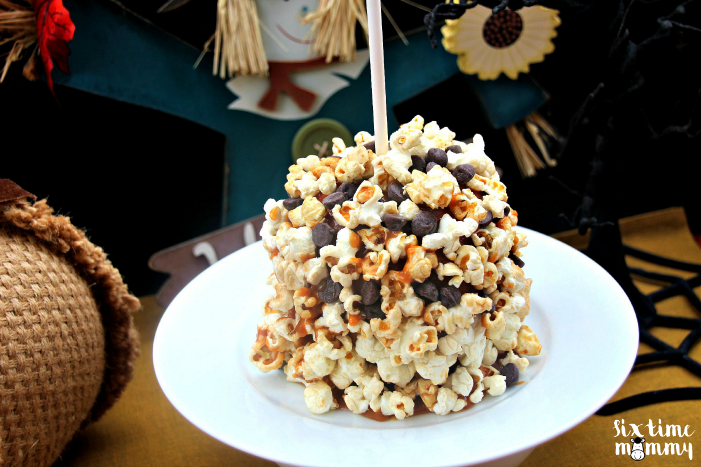Welcome Fall with Chocolate Chip & Sweet Kettle Popcorn Caramel Apples