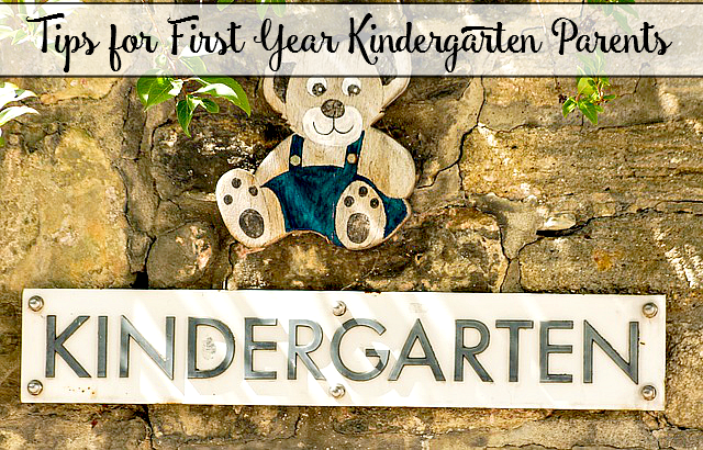 Tips for First Year Kindergarten Parents
