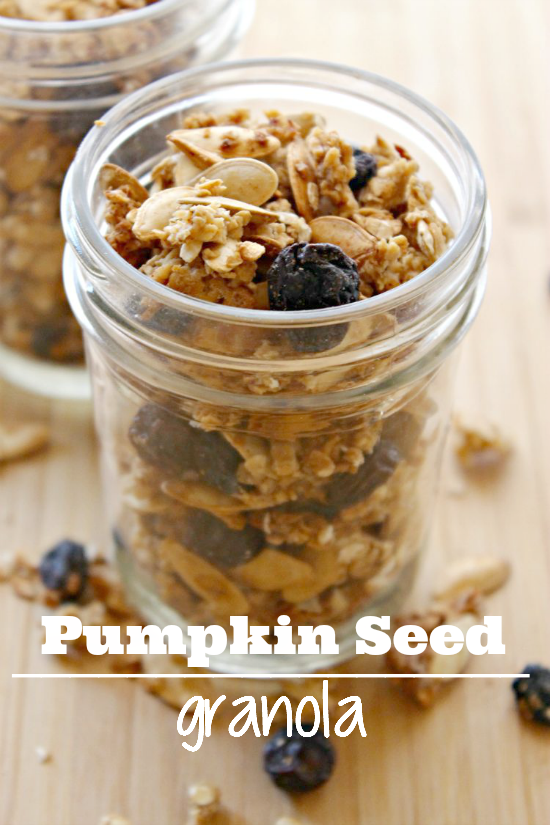 Homemade Pumpkin Seed Granola - healthy, light, and delicious! - sixtimemommy.com