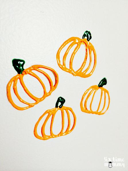 Homemade Pumpkin Window and Wall Clings