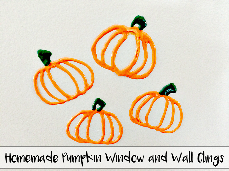 Homemade Pumpkin Window & Wall Clings: Perfect for Kids to get crafty! - sixtimemommy.com