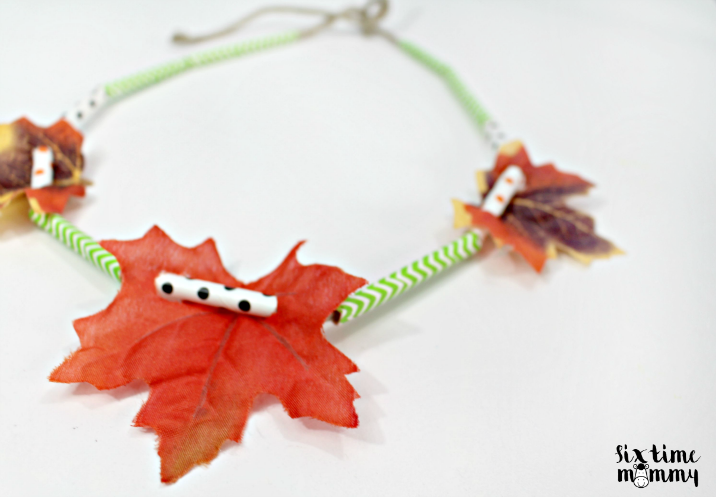 DIY Fall Necklace Easy Kids Craft