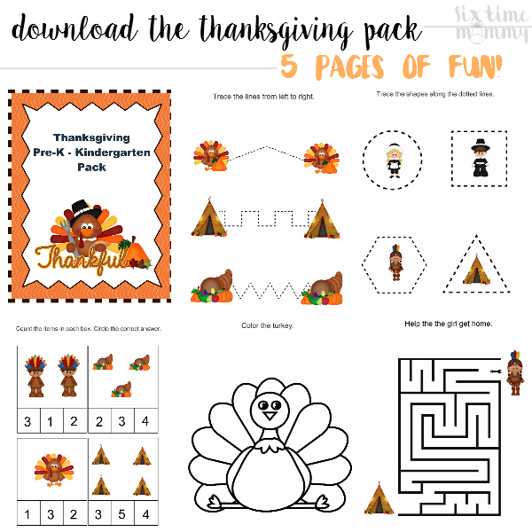 Canadian Thanksgiving This Weekend   Free Turkey Day Kids (Pre-K – K) Printable Pack