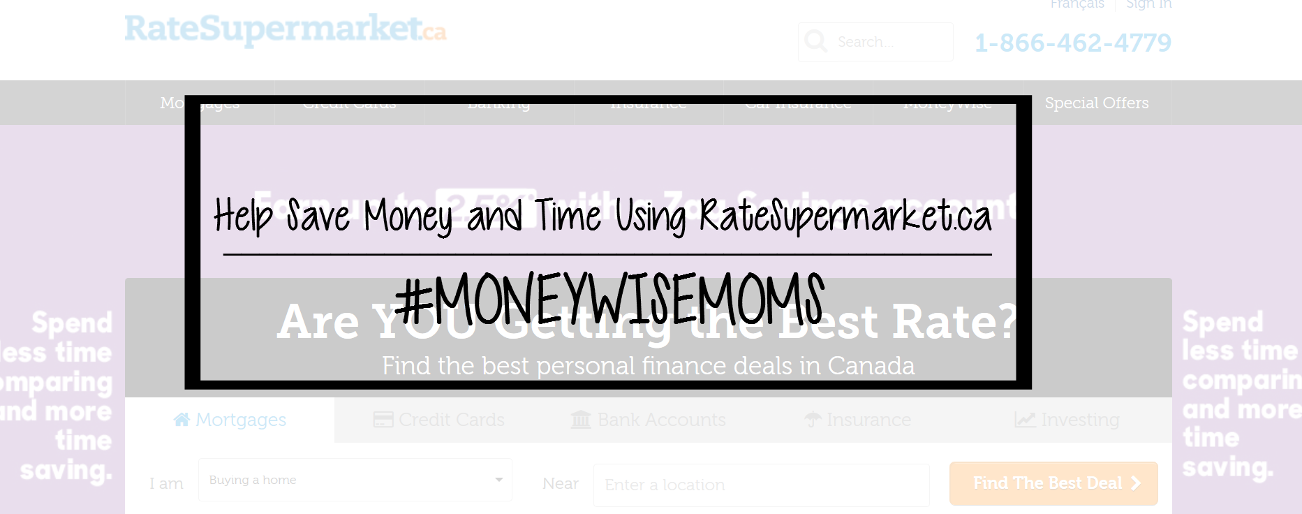 Help Save Money and Time Using RateSupermarket.ca #MoneyWiseMoms