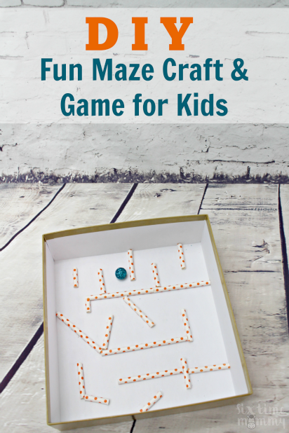DIY fun maze craft and game for kids - sixtimemommy.com