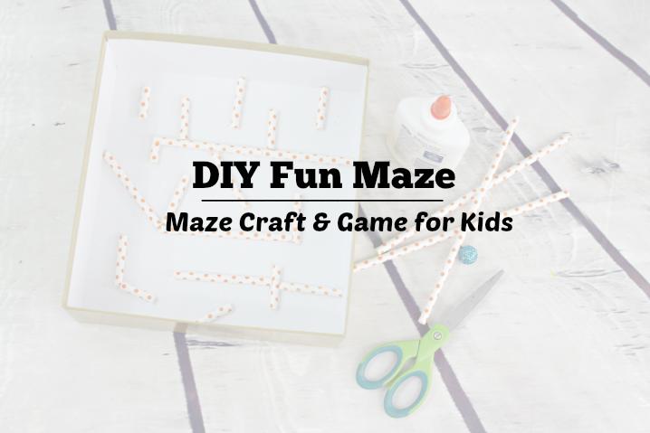 DIY Fun Maze Craft & Game for Kids