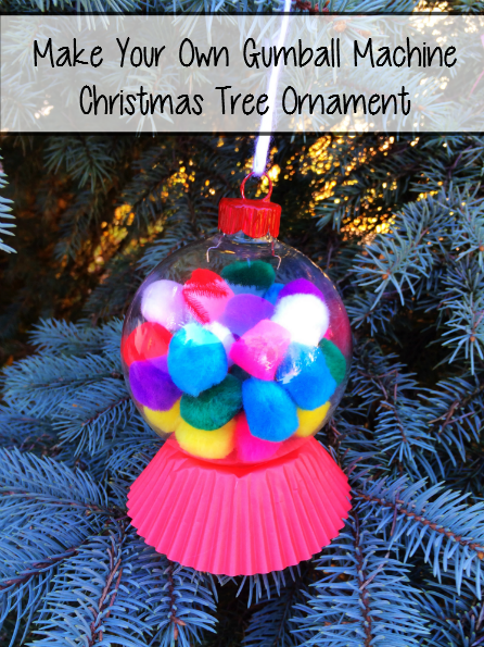Make Your Own Gumball Machine Christmas Ornaments - sixtimemommy.com