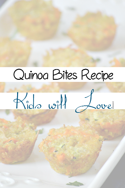 Quinoa Bites the kids will LOVE!