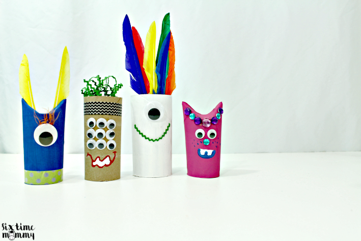 Toilet Paper tube Monsters Craft for Kids