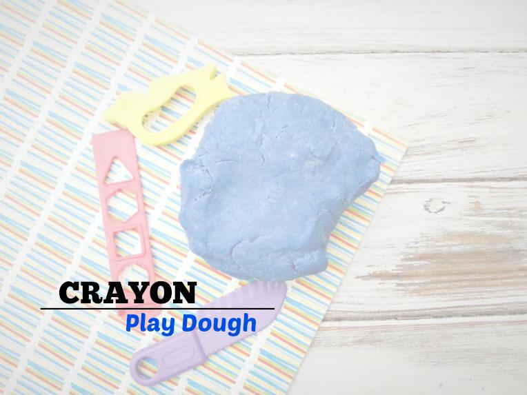 Homemade Crayon Play Dough - sixtimemommy.com