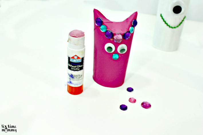 use glue to create a monster with your craft supplies