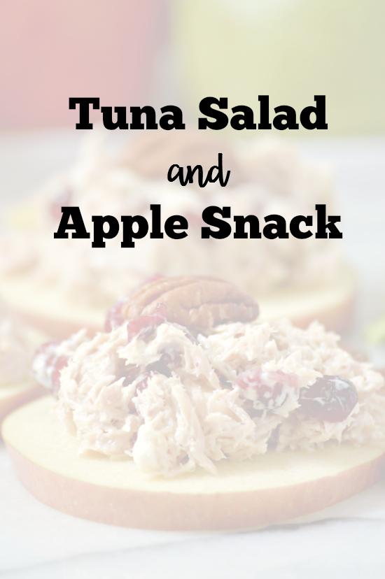 Tuna Salad & Apple Snack