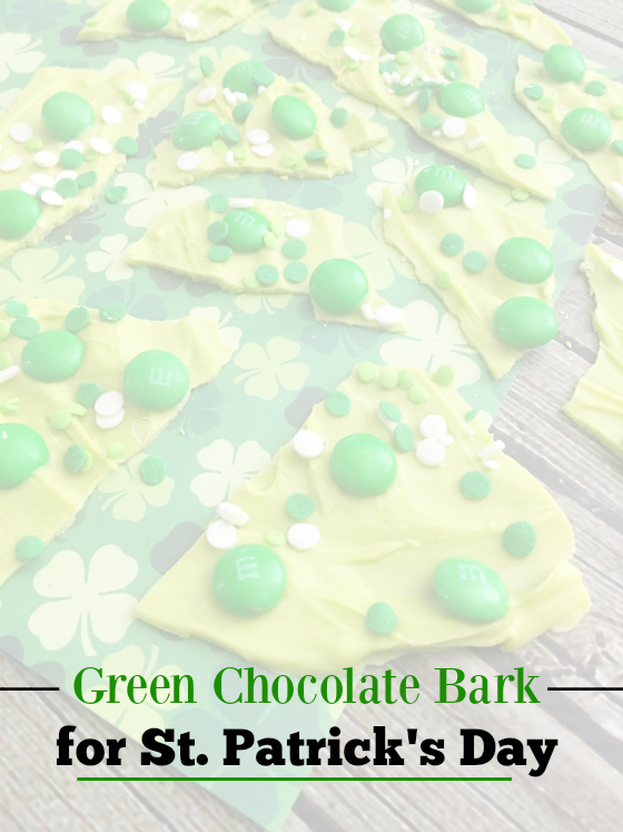 Green Chocolate Bark for St. Patrick's Day