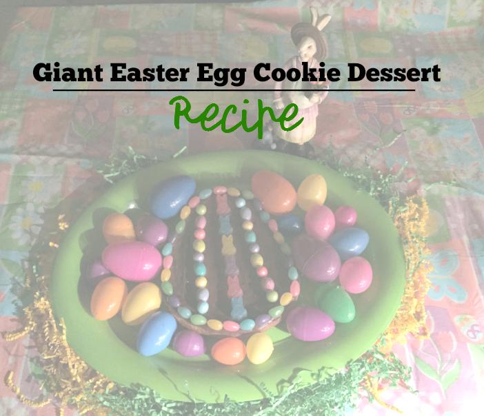 Giant Easter Egg Cookie Dessert Recipe