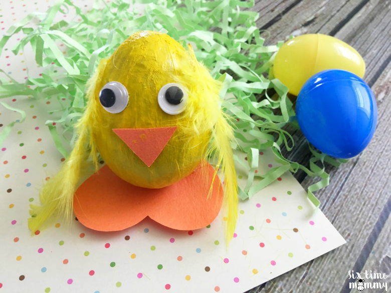 Adorable Easter Egg Craft: Baby Chick! - sixtimemommy.com