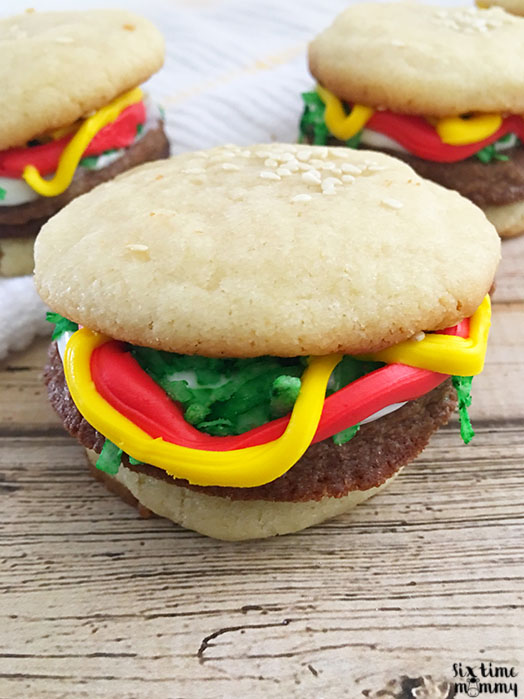 Fun & Delicious Hamburger Cookies - sixtimemommy.com