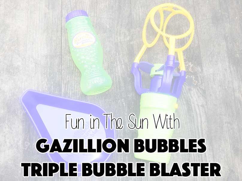Fun in The Sun With Gazillion Bubbles Triple Bubble Blaster