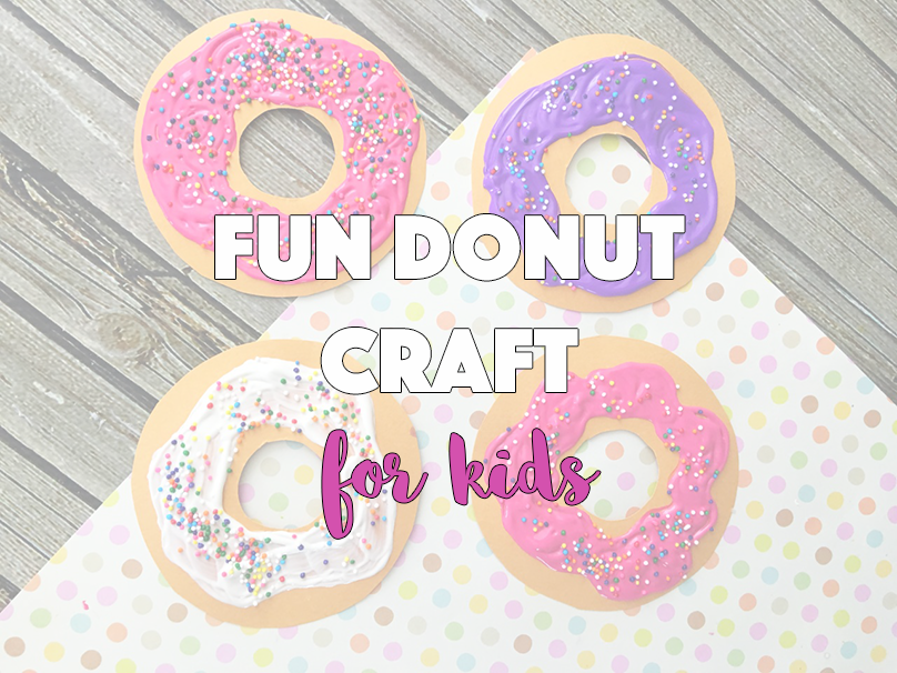 Fun Donut Craft for Kids - sixtimemommy.com