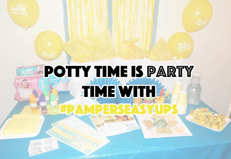 Potty Time is Party Time With #PampersEasyUps - sixtimemommy
