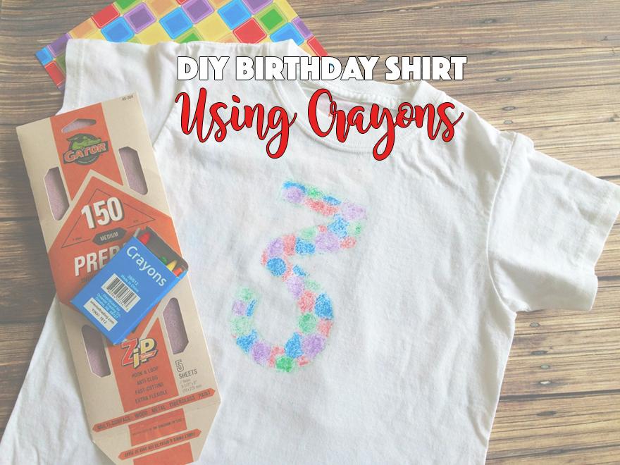 DIY Birthday Shirt Using Crayons