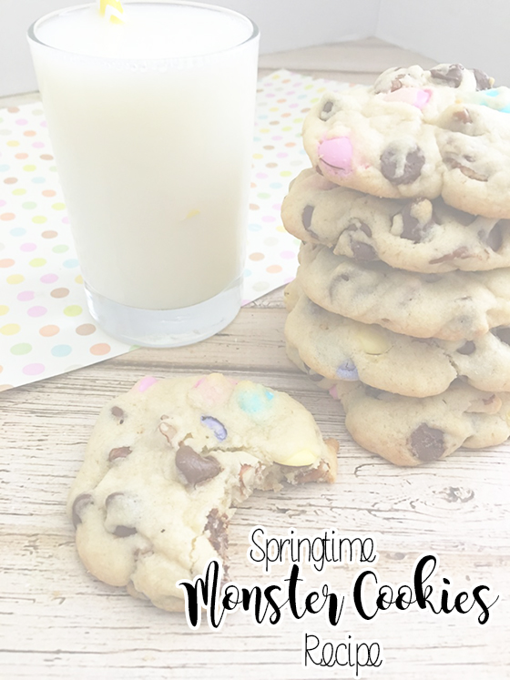 Delicious Homemade Springtime MONSTER COOKIES Recipe - sixtimemommy.com