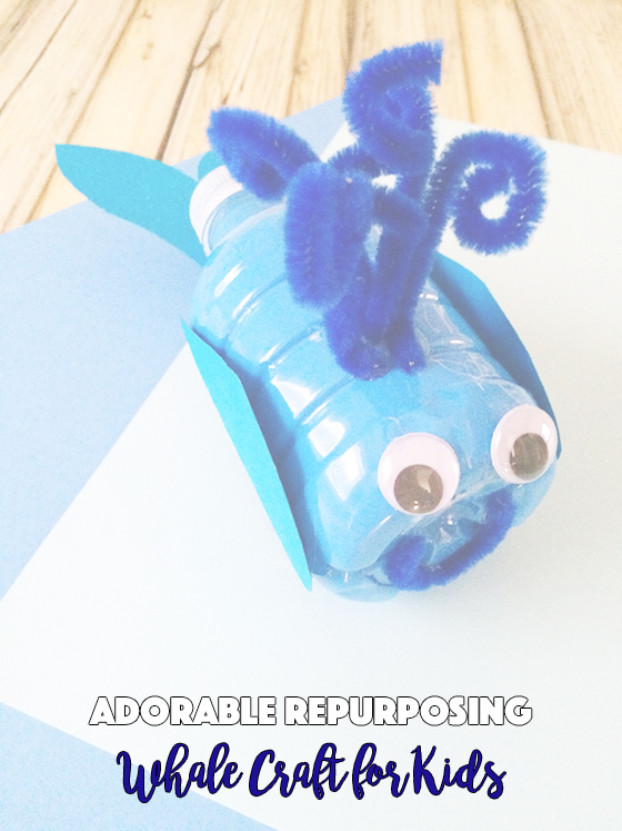 Adorable Repurposing Whale Craft for Kids
