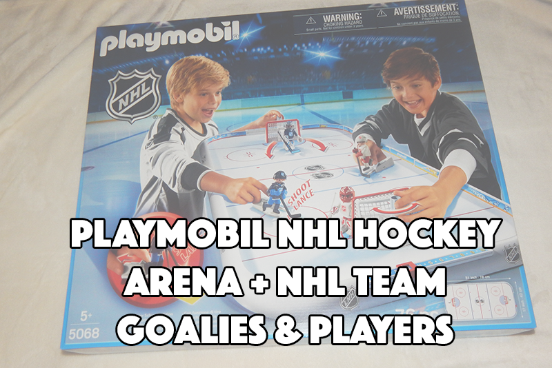 PLAYMOBIL NHL Hockey Arena + NHL Team Goalies & Players #PLAYMOBILNHL