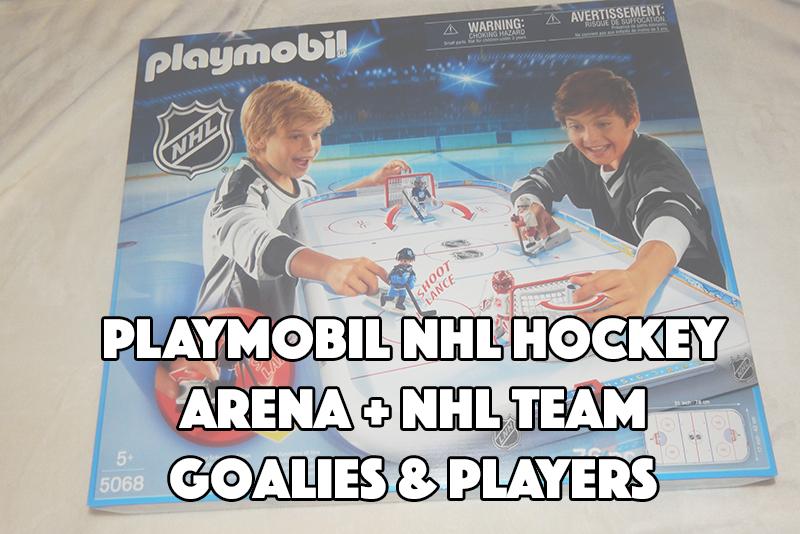 PLAYMOBIL NHL Hockey Arena + NHL Team Goalies & Players #PLAYMOBILNHL