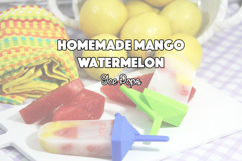 Homemade Mango Watermelon Ice Pops