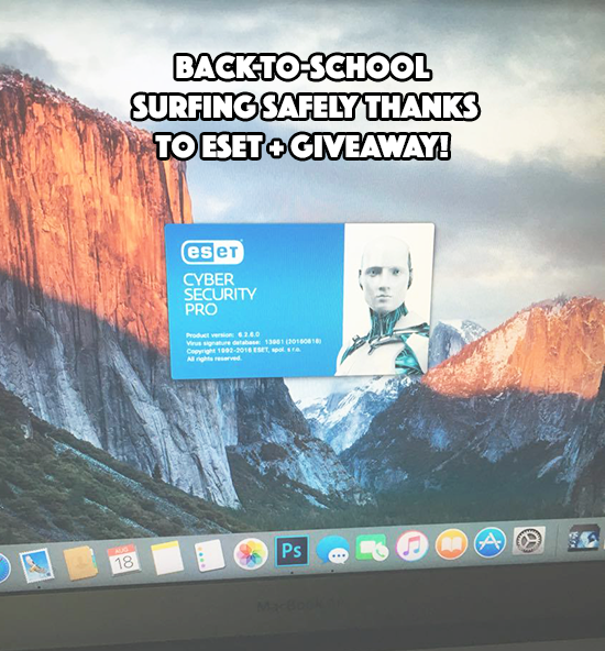 Back-To-School Surfing Safely Thanks to ESET + GIVEAWAY!