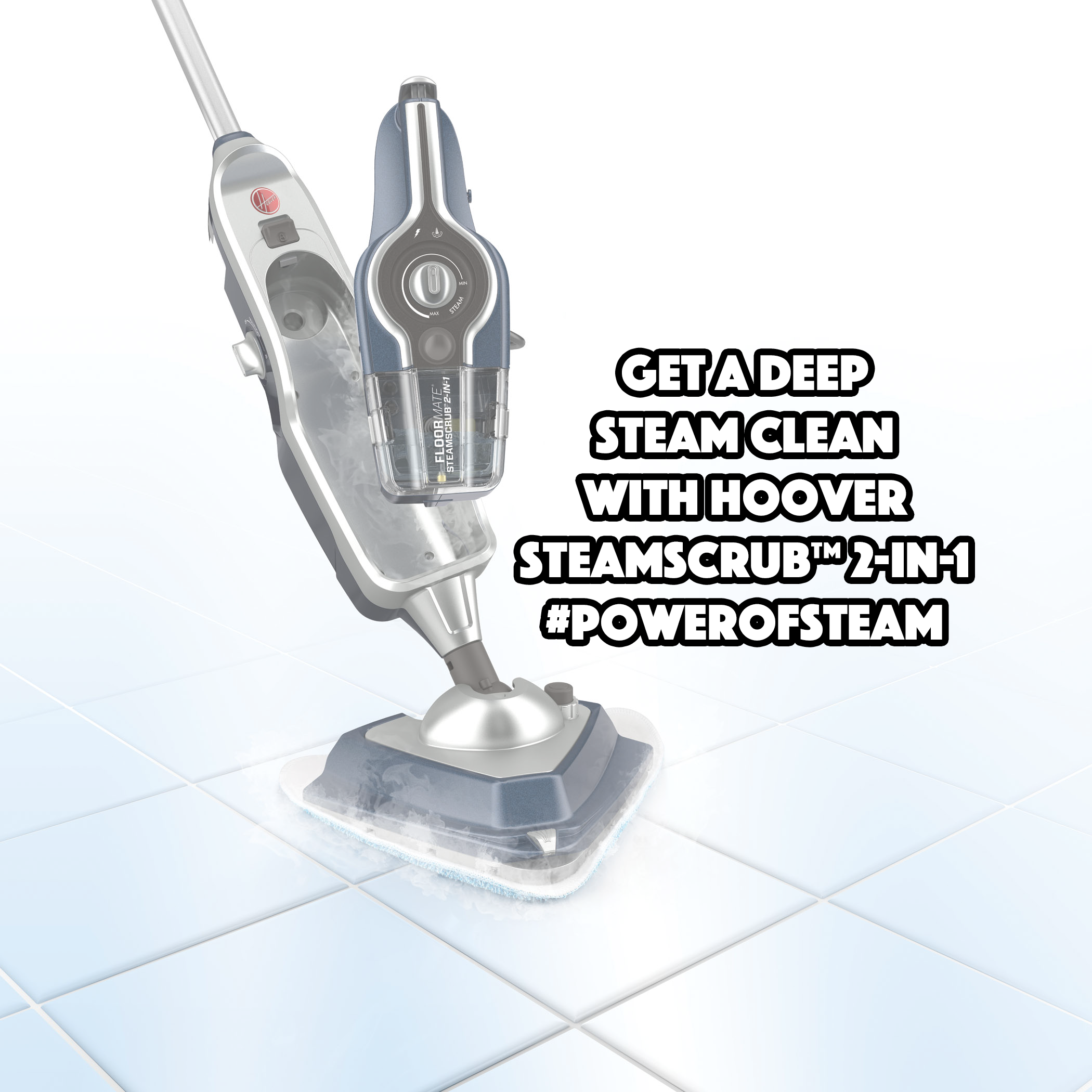 Get a Deep Steam Clean with Hoover SteamScrub™ 2-IN-1 #PowerofSteam