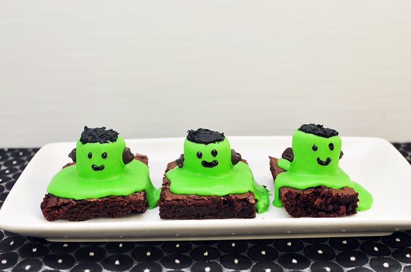 Frankenstein Brownies Recipe