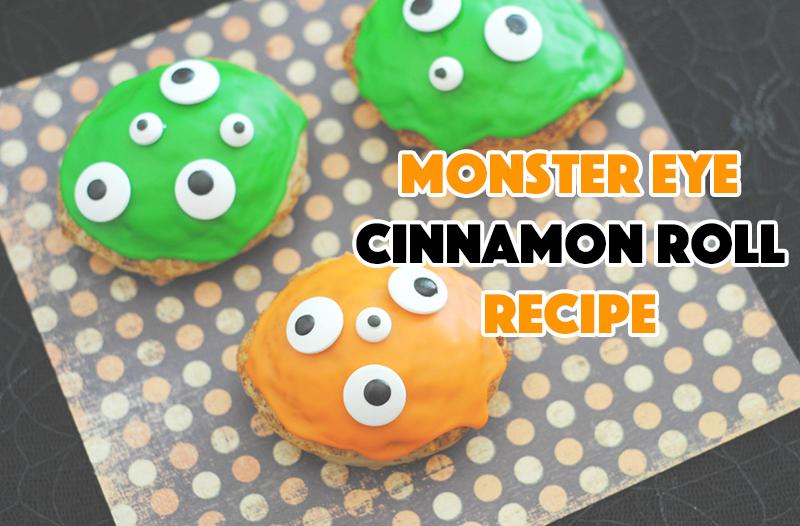 Monster Eye Cinnamon Roll Recipe - sixtimemommy.com