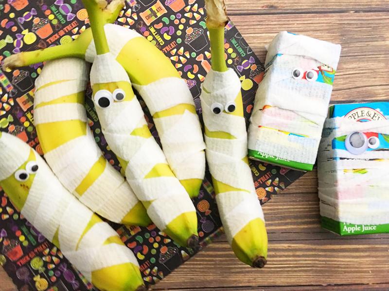 Quick, Easy & Fun Halloween Mummy Snacks to Make Lunch More Fun
