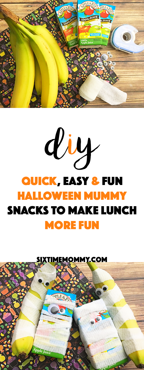 Quick, Easy & Fun Halloween Mummy Snacks to Make Lunch More Fun! - sixtimemommy.com