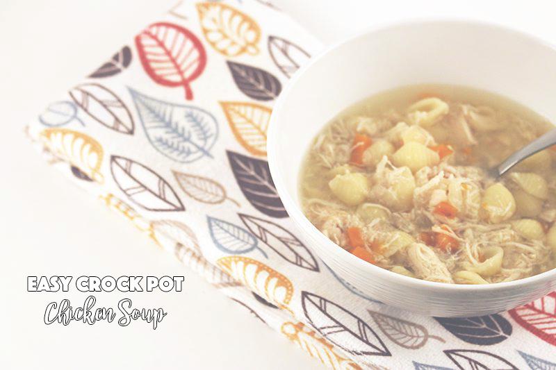 Easy Crock Pot Chicken Soup - sixtimemommy