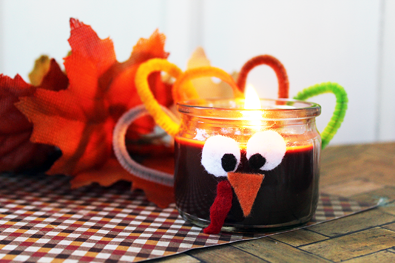 Get Creative! Make a Turkey Candle for Thanksgiving!