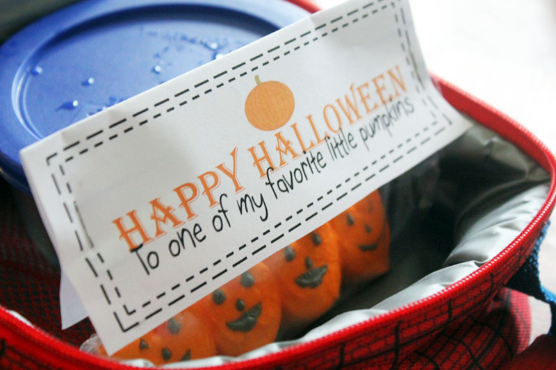 Easy Halloween Lunch Box Surprise With FREE Printable