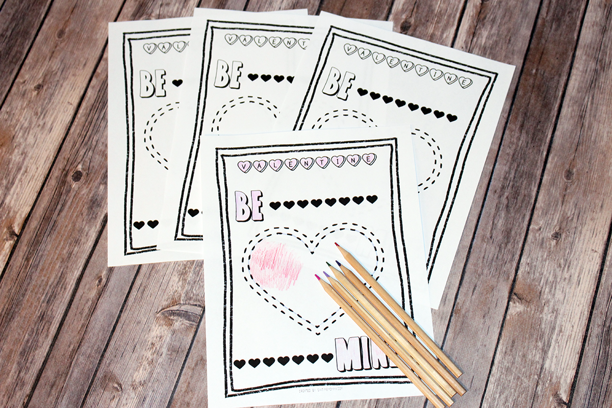 FREE Valentine's Day Colouring Page Printable For Kids