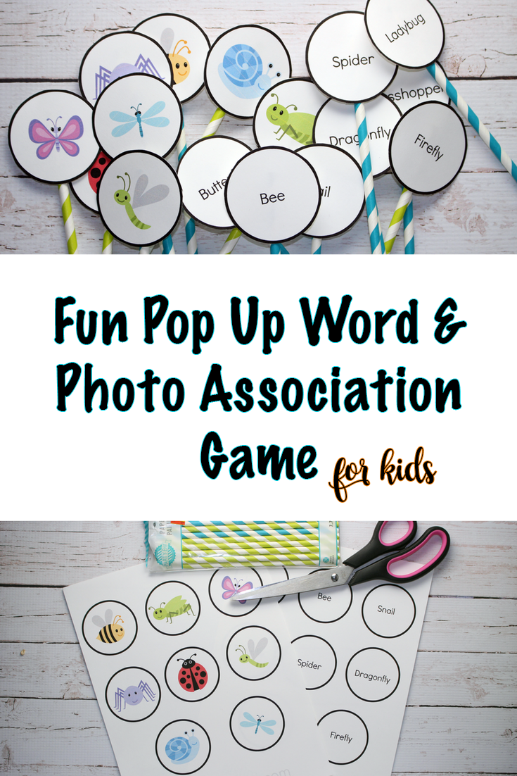Fun Word & Picture Association For Kids Printable