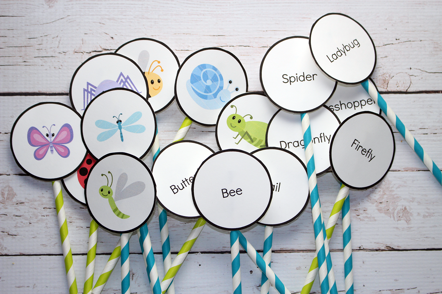Fun Pop Up Word and Photo Association Game + FREE Printable