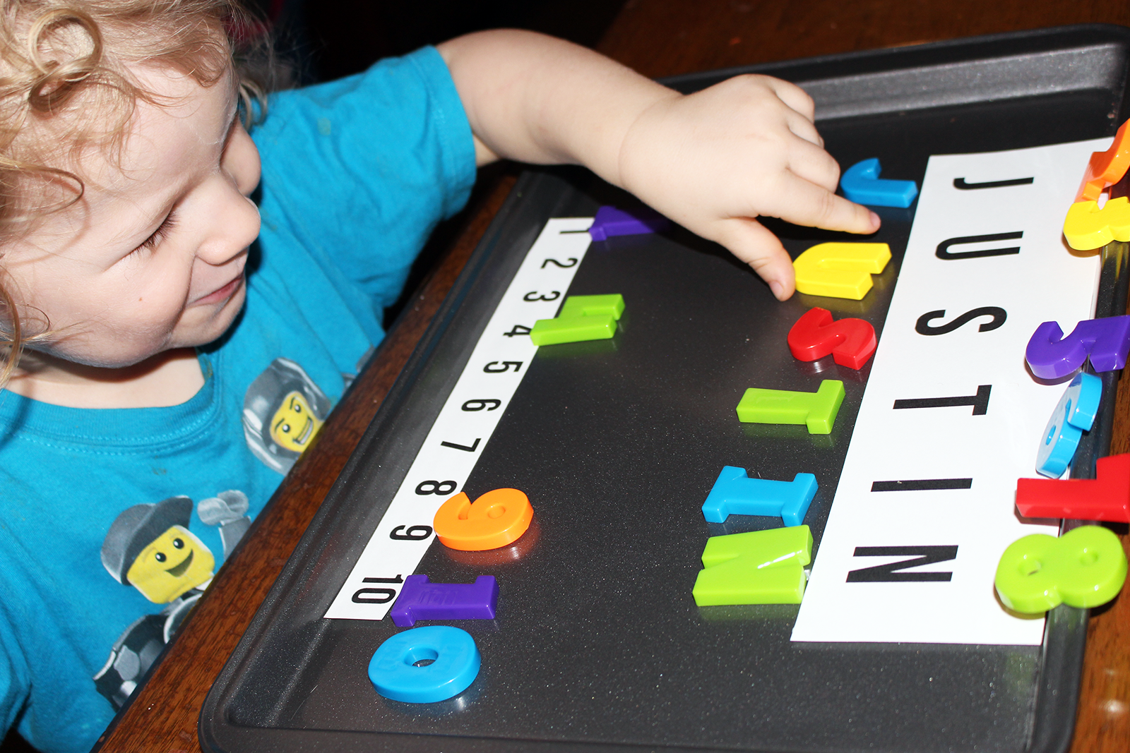 Inexpensive Preschool Idea: Teach Names and Numbers