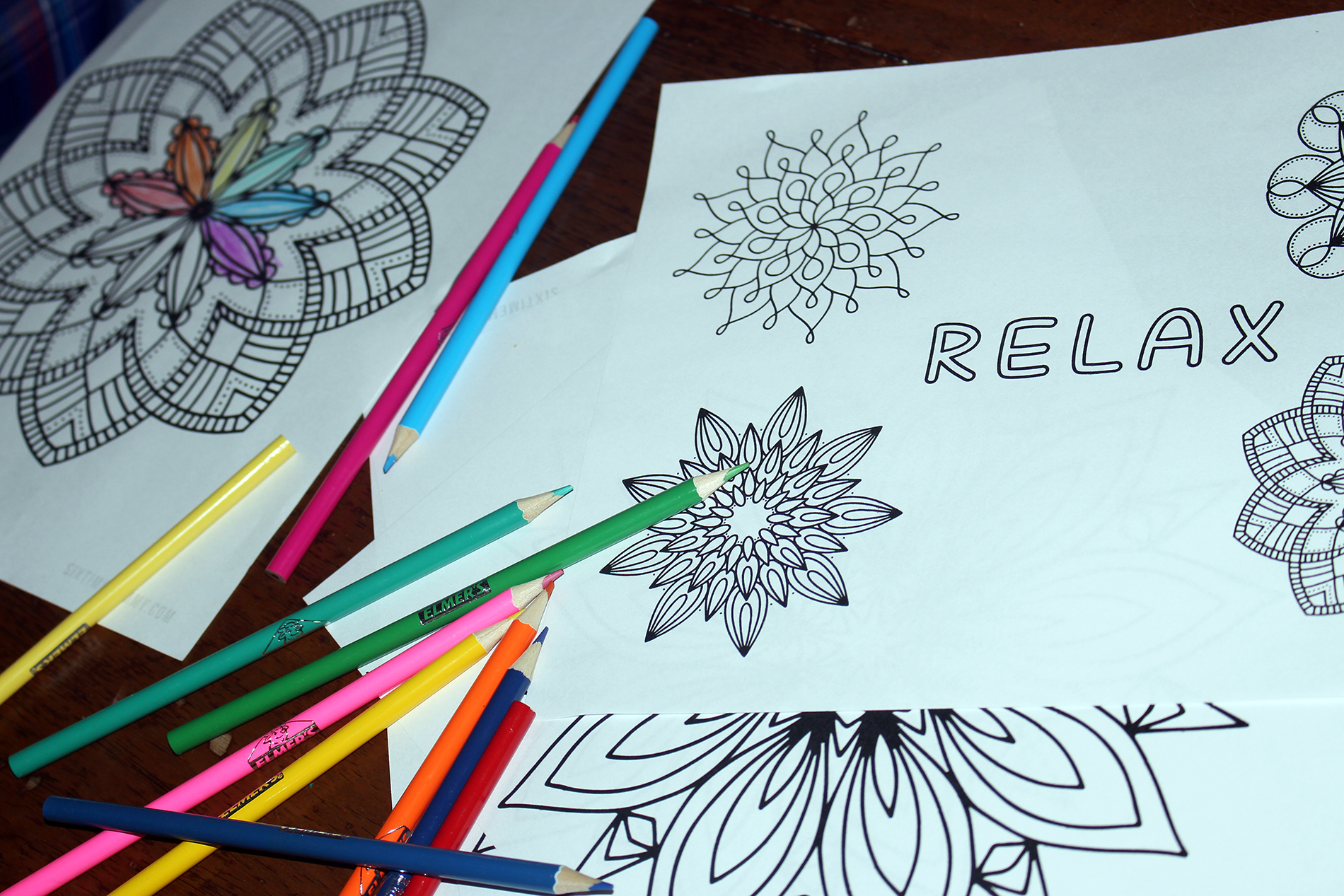 Free Adult + Preteen Colouring Page Printables