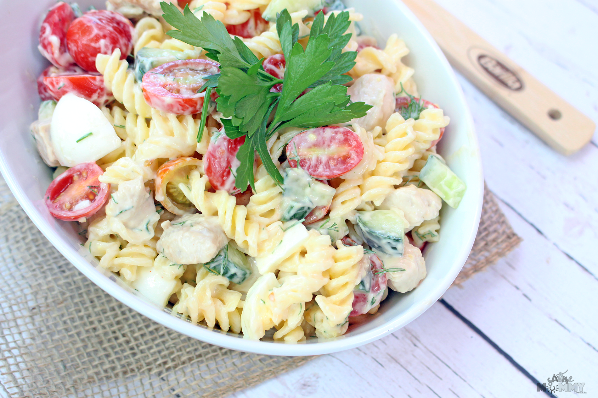 Cold Gluten Free Chicken Salad Pasta Six Time Mommy And