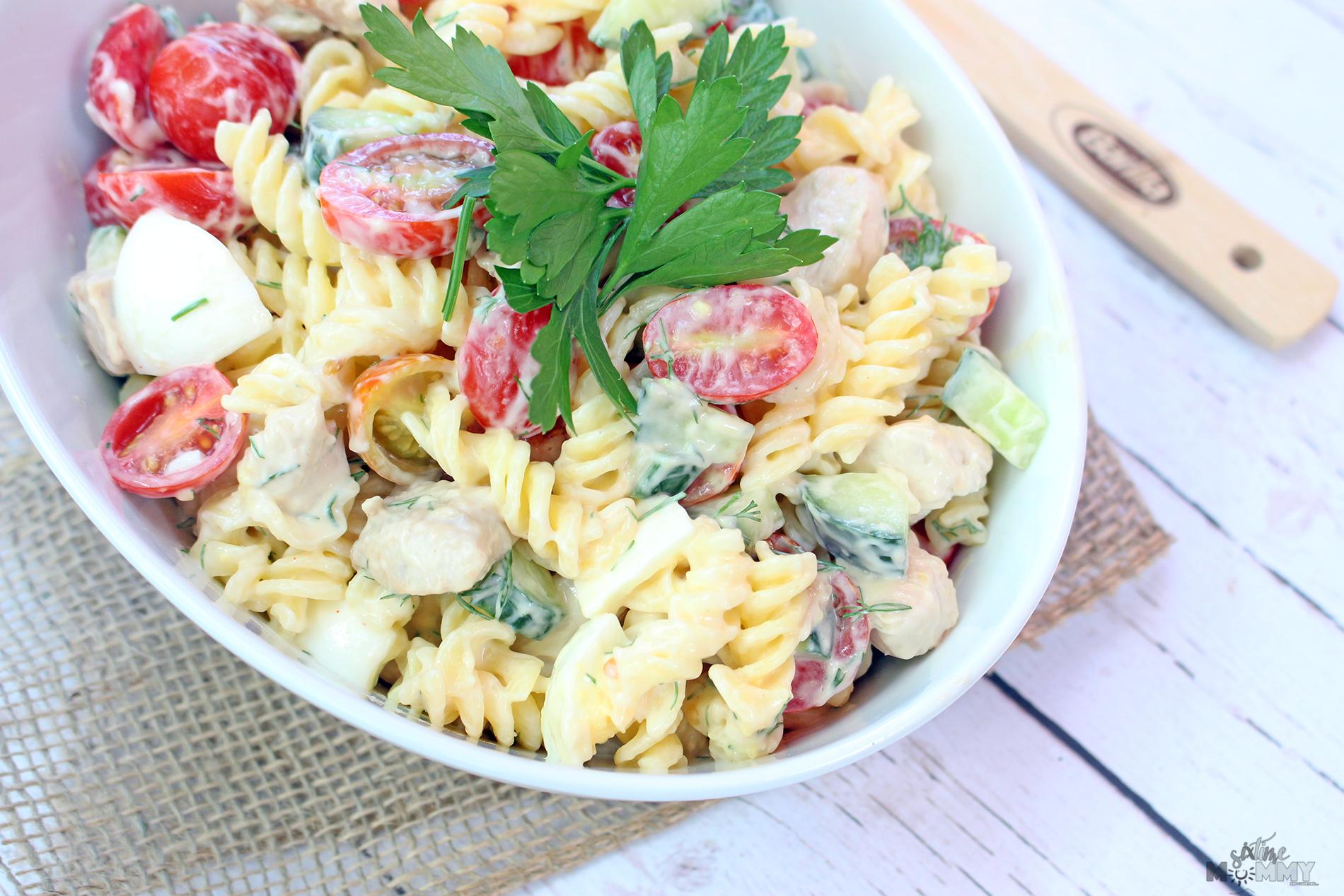 Cold Gluten Free Chicken Salad Pasta