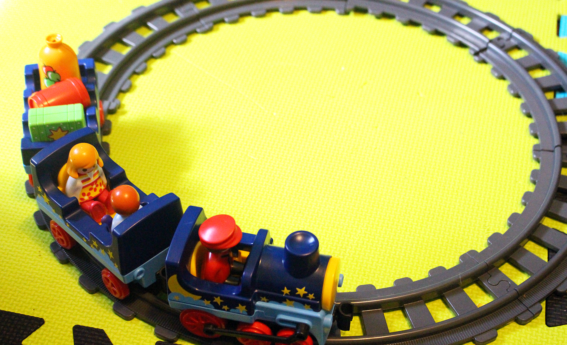 Chugging Along With the 1.2.3 Night Train with Track from Playmobil