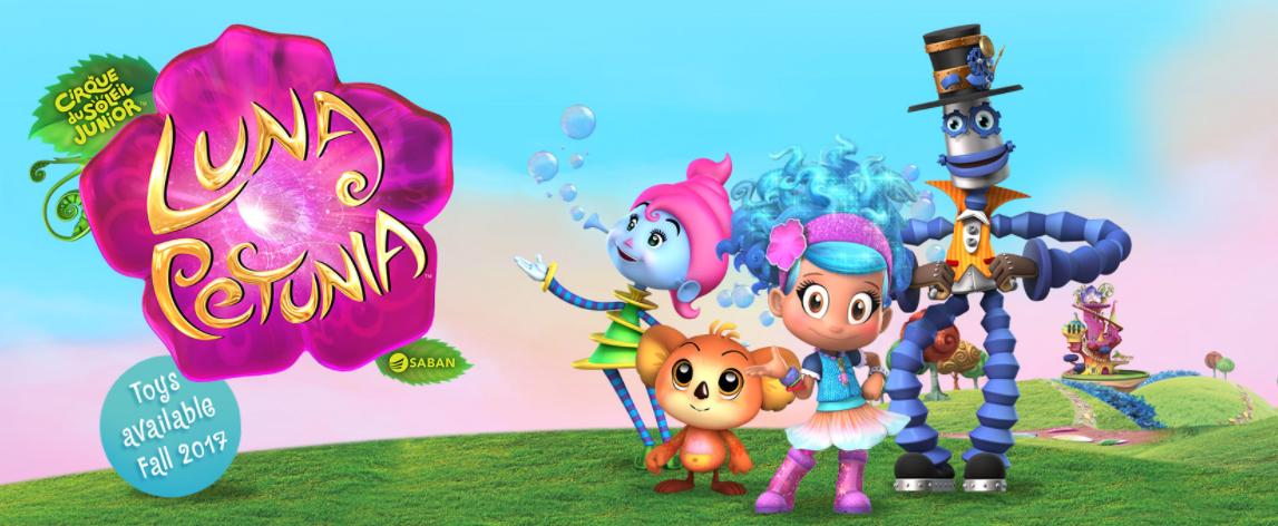 Cirque du Soleil Junior Luna Petunia Set of 4 Sammy Stretch Karoo and Bibi Bubble Plush Figures Funrise Luna Petunia